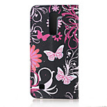 Flower and Butterfly Magnetic PU Leather wallet Flip Stand Case cover for LG K10 / M2 F670