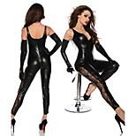 Women V Neck Lace ONE WAY Zipper Jumpsuit