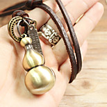Vilam® Vintage Gourd Leather Necklace Copper Necklace Pendant Necklaces Sports 1pc