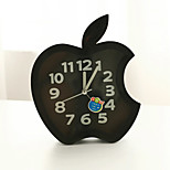 Creative Plastic  Mini apple  Desktop Needle Quartz Alarm Clock (Random Color)