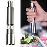 Stainless Steel Thumb Push Salt Pepper Spice Sauce Grinder Mill Muller Stick