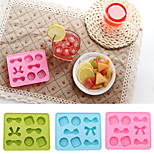 Candy Colour Bow-knot Ice Mould Silicone Ice Cubes Chocolate Mould (Random Color)