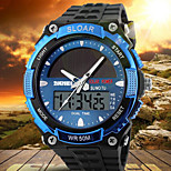 SKMEI Men's Analog-Digital Silicone Band 30m Water-resisstant Multi-Functional Sports Watch