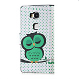 Dozing Owl Family Magnetic PU Leather wallet Flip Stand Case cover for Huawei Honor 5X