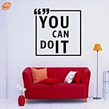AYA™ DIY Wall Stickers Wall Decals, You Can Do It English Words & Quotes PVC Wall Stickers