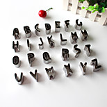 26PCS Letter Style Stainless Steel Cake & Cookie Cutters Molds
