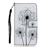 Dandelion Pattern PU Leather Full Body Case with Stand for Wiko Rainbow Jam 4G