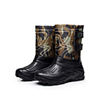 Men's Foreign Trade Bottomed Non-slip Waterproof Snow Boots Plus Velvet Light Fishing Boots In Tube Warm Boots