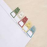 1PC Creative Dazzle Colour Small Metal Bookmarks ,Message Clip - Five(Style random)