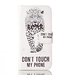 Leopard Pattern PU Leather Case with Card Slot and Stand for iPhone SE/5S/5