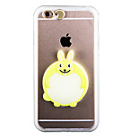 Glow in the Dark Little White Rabbit PC Back Case with Strap and Stand for iphone6/6s
