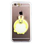 bagliore nel buio piccolo coniglio bianco pc fondello con cinturino e stand per iPhone6 / 6S