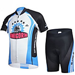 CHEJI Cycling Bike Short Sleeve Clothing Bicycle Suit Jersey + Shorts For Kids