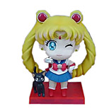 Sailor Moon Anime Action Figure 8CM Model Toy Doll Toy (3 Pcs)