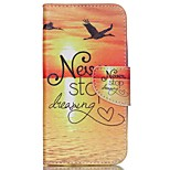 Cross Pattern Leather Wallet Cover for Wiko Rainbow Jam 4G - Never Stop Dreaming