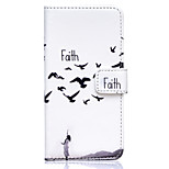 Faith Swallows Pattern Embossed PU Leather Case for iPhone 6/ iPhone 6S