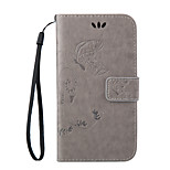 Embossing Relief PU Leather Full Body Cases Flip Case for Huawei Ascend Y550/P8 lite/Glory 4C