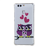 Sweet Owl Family Shockproof as TPU soft shell cover Case for Huawei Ascend P9