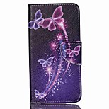Cross Textured Leather Phone Case for Acer Liquid Z630 Z630S - Vivid Butterflies