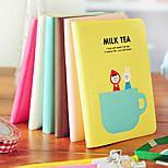 4PCS Lovely Sweet Milk Tea Time Portable Glue Set Notepad Cartoon Jotter(Style random)