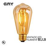 1 pcs GMY E26 3.5W 4 COB ≥300 lm Warm White ST19 edison Vintage LED Filament Bulbs AC120V 2200K