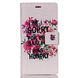 Pearl Grain Wallet Leather Case for Huawei Ascend P8 Lite - Flower and Quote