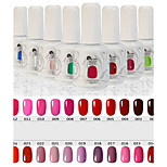 Newest Popular Top Fashion Non-toxic Soak-off UV & LED Resin Gel Polish (15ml,1-24 Colors)