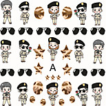2Pcs/set The Descendants of the Sun Nail Sticker Decals Transfer Manicure Tips Nail Art Decorations