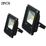 MORSEN®2Pcs  LED Flood Light 10W  Black AC85-265V Waterproof  IP65 Floodlight Spotlight Outdoor Lighting