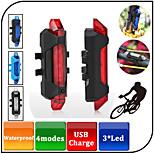 Luzes de Bicicleta LED 4.0 Modo 100 lumens Lumens Prova-de-Água / Recarregável Outros Bateria de LítiumCampismo / Escursão /