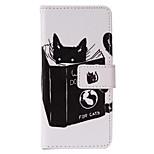 Katze Lese Fall PU-Telefon für iphone5se gemalt
