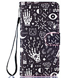 Confusion Pattern PU Leather Full Body Case with Stand for BQ M 5.0
