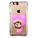 Glow in the Dark Raccoon Dog Pattern with Hand Ring and Strap PC Back Case for iPhone 6Plus/6SPlus 5.5