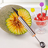 Stainless Steel Watermelon Fruit ice Cream Scoop To Dig Ripple Carved Daowaqiuqi