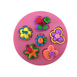 Flowers Style Sugar Candy Fondant Cake Molds  For The Kitchen Baking Molds