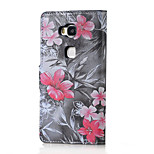 Red Flower Magnetic PU Leather wallet Flip Stand Case cover for Huawei Honor 5X