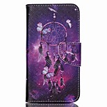 Cross Pattern Leather Wallet Case for Wiko Lenny2 - Dream Catcher