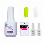 ILuve Franch Gel Nail Polish With Top And Base Coat,Pack Of 4 With Sticker,Long Lasting Soak Off UV Led Gel Varnish #01
