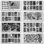 6pcs DIY Nail Art Image Black Lace Flower Design Tool Equipment Stamp Stamping Plates Manicure Template