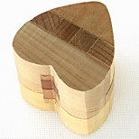 Fashion Wood Heart Style Puzzle Unlock Loop Decompression Toys