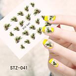 1pcs  Water Transfer Nail Art Stickers Sexy Lace Feather Lovely Panda Nail Art Design STZ41-45