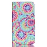 Cross Pattern Phone Leather Wallet Case for Acer Liquid Z330 Z320 M320 M330 - Vivid Flowers