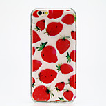 The Temptation of Strawberry IMD Printed TPU Soft Back Cover for iPhone 6/6S(Assorted Colors)