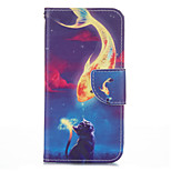 Golden Fish Cat PU leather with Stand Case for Iphone6/6S 4.7