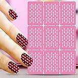 1pcs  Nail Art Hollow Stickers New Design Stripe Round Interesting Geomestric Shape  Nail Art Beauty  L111-120