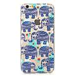 Fashion Cool Elephants Painted Pattern Hard Plastic Back Cove For iPhone6Plus/6SPlus 5.5