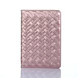 Luxury Woven Pattern Cover Case with Stand for iPad Mini 4(Assorted Colors)