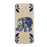 Wood Elephant Pattern TPU Soft Case for iphone5/5S