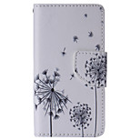 Black Dandelion Painted PU Phone Case for Sony Xperia Z5 Compact/Z5