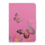 Schmetterling Blumenmuster 7-Zoll-Tablet-Fall Universal Leder Standplatz-Fallabdeckung für 7-Zoll-Tablet-PC magnetischen Flip-Cover
